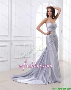 Cheap Mermaid Sweetheart Brush Train Sequins Prom Dresses