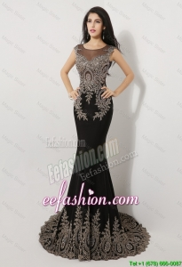 Gorgeous Mermaid Appliques and Beaded Prom Dresses in Black