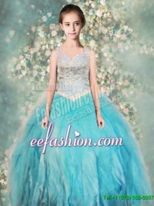Perfect Straps Ball GownMini Quinceanera Dresses with Beading