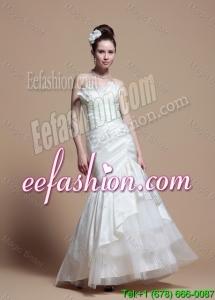 2016 Custom Made Mermaid Strapless Wedding Dresses with Brush Train