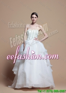 Designer Ball Gown Sweetheart Wedding Dresses with Ruching
