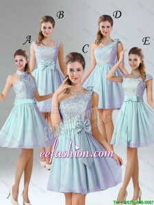 2016 Romantic A Line Lace Bridesmaid Dresses