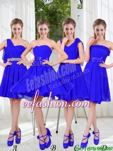 Elegant A Line Sweetheart Bridesmaid Dresses in Royal Blue