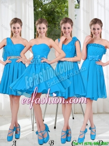 Exclusive 2016 Bridesmaid Dresses with Ruching in Blue