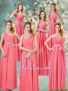 Fashionable Ruched Prom Dresses in Watermelon Red