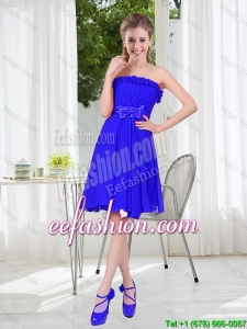 Short Strapless Bridesmaid Dresses for Wedding Party