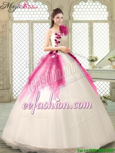 2016 Spring Classical Multi Color Quinceanera Gowns with Appliques and Ruffles