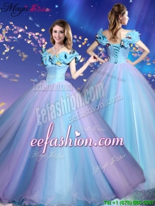 Gorgeous Off the Shoulder Quinceanera Dresses in Multi Color