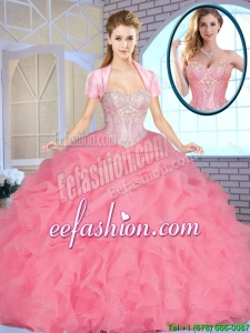 Exclusive Sweetheart 2016 Quinceanera Dresses Beading and Ruffles