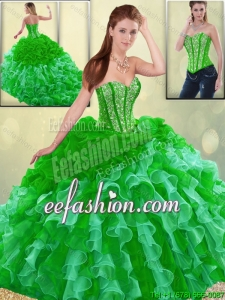 Gorgeous Multi Color 2016 Quinceanera Dresses with Brush Train