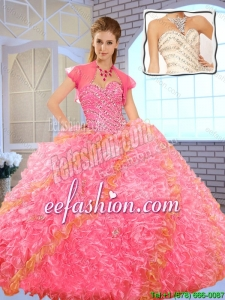 Pretty Sweetheart Beading 2016 Quinceanera Dresses in Multi Color
