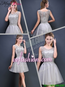 Perfect Mini Length Scoop Prom Dresses with Appliques