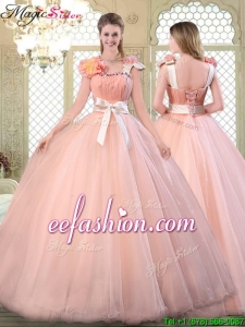 2016 Beautiful Asymmetrical Quinceanera Dresses with Bowknot