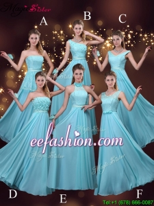 2016 Cheap Empire Aqua Blue Prom Dresses