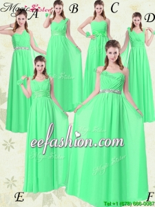 The Most Popular Empire Floor Length Prom Dresses with Ruching and Belt for 2016 Summer
