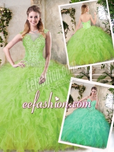 2016 Modest Sweetheart Sweet 16 Dresses with Appliques and Ruffles