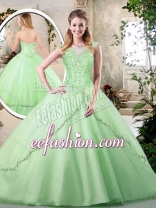 2016 New Style Sweetheart Quinceanera Dresses in Apple Green