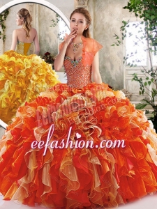 2016 New Style Sweetheart Quinceanera Dresses with Beading and Ruffles