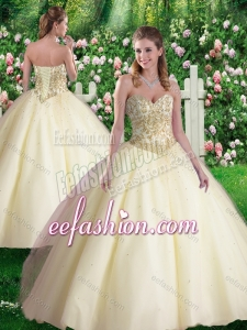 Cheap Ball Gown Sweetheart Sweet 16 Dresses in Champagne