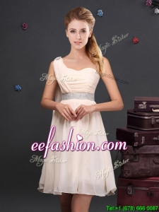 2017 Designer Empire Chiffon Dama Dress with Sequined Decorated Waist