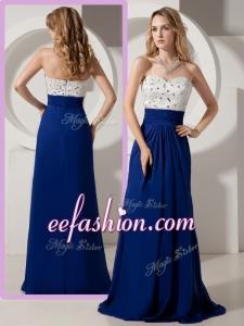 2016 Cheap Empire Brush Train Beading Prom Dresses for Evening