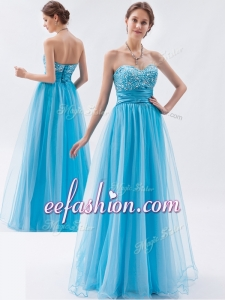 2016 Cheap Empire Sweetheart Beading Prom Dresses for Pageant