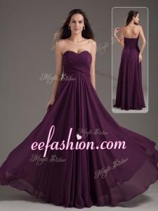 2016 Cheap Empire Sweetheart Ruching Prom Dress in Purple