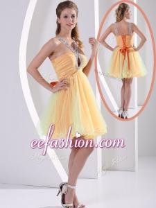 2016 CheapStraps Mini Length Beading Prom Dresses