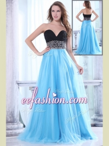 2016 Popular Sweetheart Beading Brush Train Prom Dress for Graduation