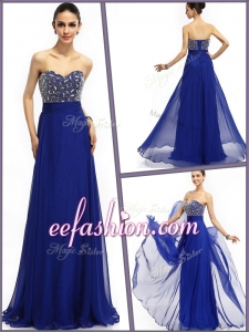 Perfect Empire Sweetheart Prom Dresses in Royal Blue
