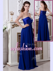 2016 Plus Size Empire Sweetheart Long Prom Dress in Royal Blue
