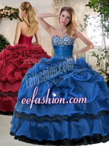 Classical Ball Gown Beading and Pick Ups Sweet 16 Dresses