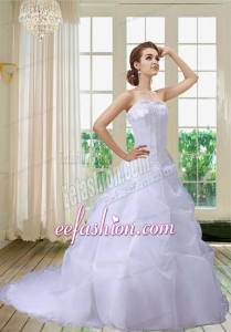 Exquisite A Line Appliques Wedding Dresses with Sweetheart