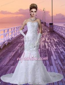 2014 Lace Mermaid Sweetheart Wedding Dresses with Beading