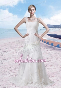 Brand New Style Lace Wedding Dress with Brush Train