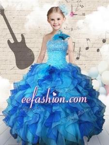 Elegant Beading and Ruffles Mini Quinceanera Dresses in Multi Color