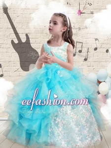 Fashionable Appliques and Ruffles Little Girl Pageant Dresses for 2016