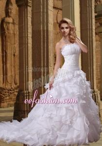 Fashionable Beading Princess Strapless Wedding Dresses For 2014