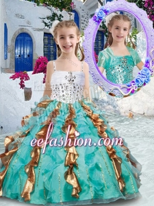 Gorgeous Spaghetti Straps Mini Quinceanera Dresses with Beading and Ruffles