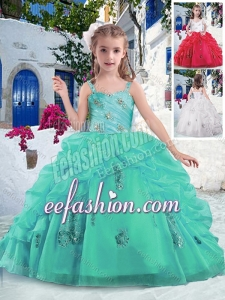 Latest Ball Gown Straps Beading and Bubles Mini Quinceanera Dresses
