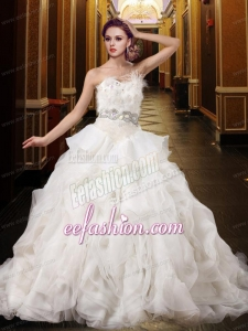 Lovely Beading Ball Gown Wedding Dress with Sweetheart