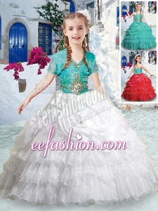 Lovely Halter Top Mini Quinceanera Dresses with Ruffled Layers