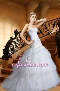 Mermaid Appliques and Beading Wedding Dress with Sweetheart