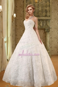 New Style Sweetheart A Line Floor Length Wedding Dress