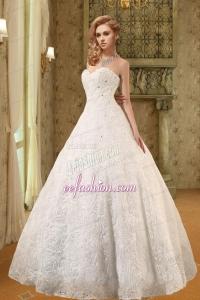New Style Sweetheart A Line Floor Length Wedding Dress