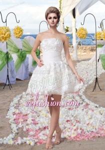 Pretty Princess Mini Length Beautiful Wedding Dress