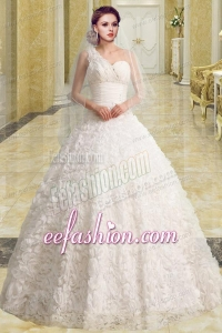 Princess Sweetheart Brush Train Beading Wedding Dresses for Church