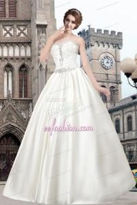 Beautiful Sweetheart Princess Floor Length Wedding Dress for 2014