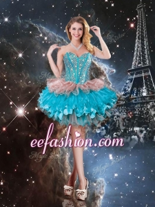 Gorgeous Sweetheart Short Prom Dresses with Beading for 2016