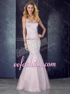 2016 Mermaid Sweetheart Satin Lavender Stylish Prom Dress with Brush Train